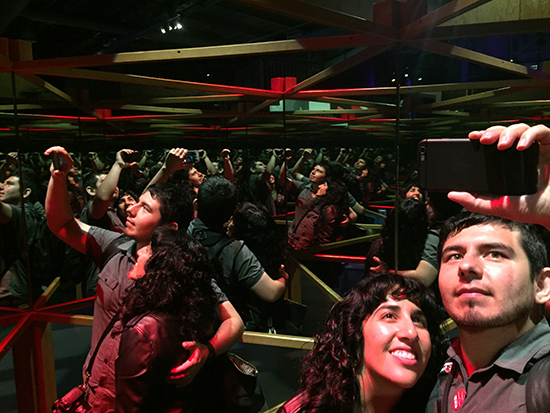 SF Exploratorium After Dark Experience Kaleidoscope Selfie