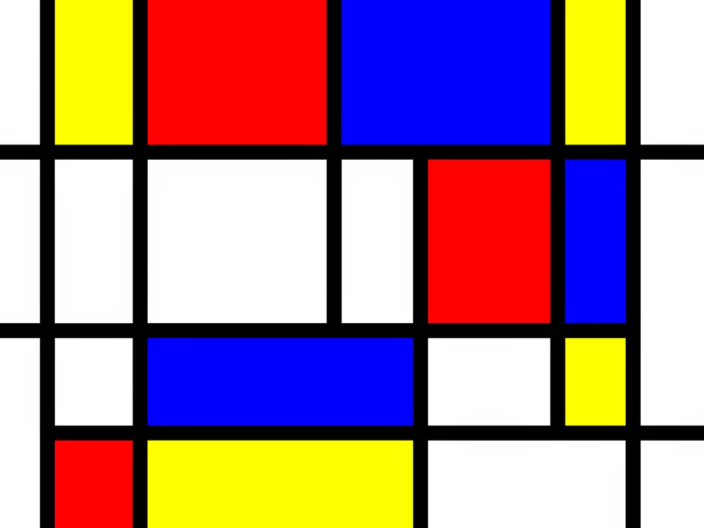 pintando sonrisas de colores piet mondrian rojo azul y amarillo. Black Bedroom Furniture Sets. Home Design Ideas