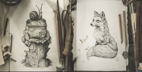 00-Mike-Koubou-Stylized-Sketchbook-Animal-Pencil-Drawings-www-designstack-co