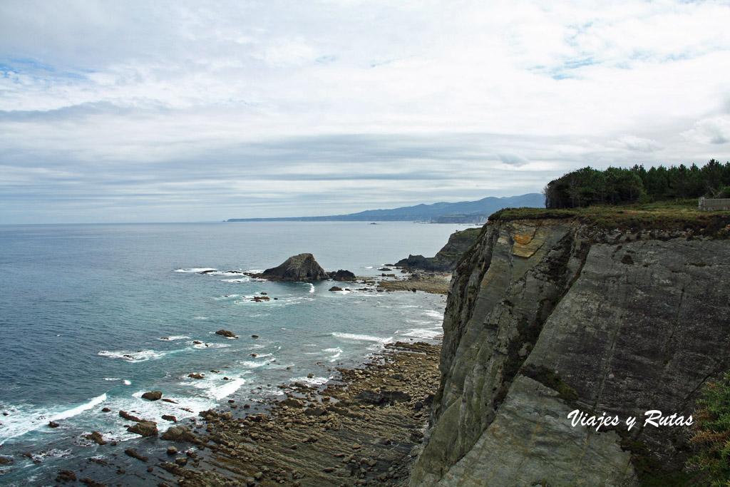 Acantilados del Cabo Busto en Asturias