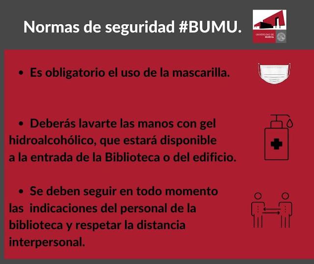 Reapertura de servicios presenciales en la Biblioteca Universitaria de Murcia