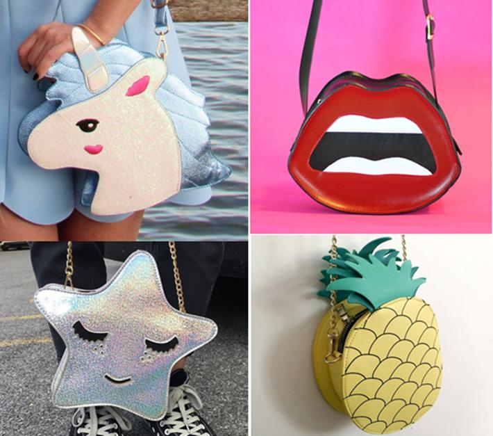 Bolsas divertidas que bombam no universo da moda