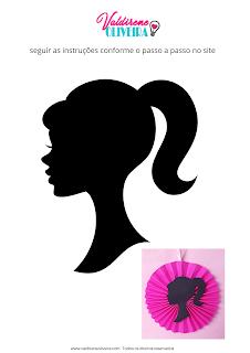 molde grátis - tema barbie -valdirene Oliveira