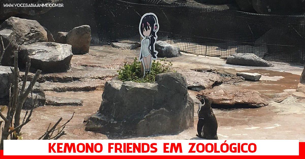 Kemono Friends em colaboração com Zoológicos Japoneses e o Pinguim apaixonado.
