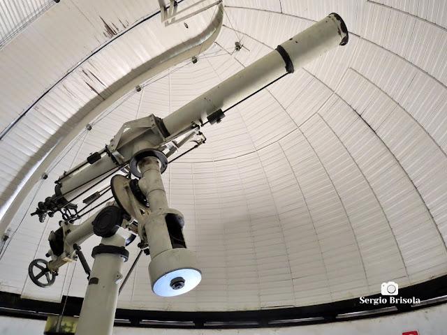 Close-up do Telescópio Zeiss do Parque CienTec - Água Funda - São Paulo