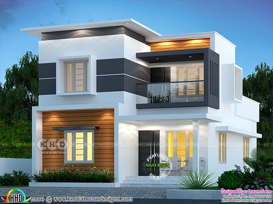 Cute contemporary style Modern home front view design