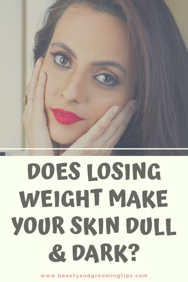 Girl worried whether losing weight makes skin dark.