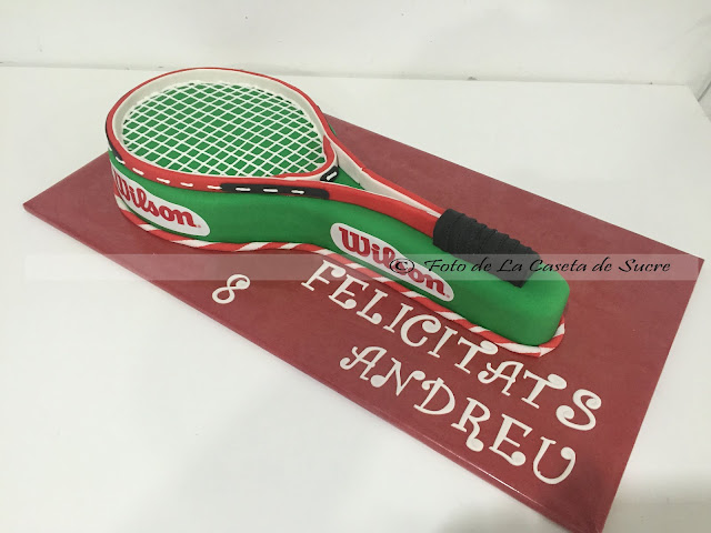 Tarta raqueta de tenis