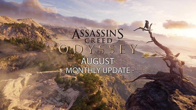 يوبيسوفت تكشف عن برنامج محتويات شهر أغسطس للعبة Assassin's Creed Odyssey بالتفصيل ، إليكم من هنا..