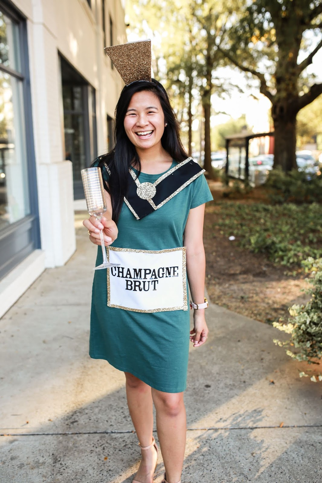 DIY Champagne Bottle Costume Idea