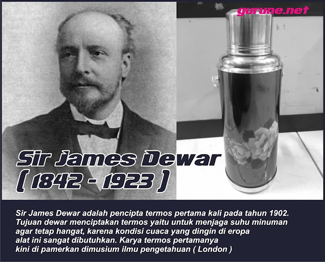 sejarah termos - sir james dewar penemu termos