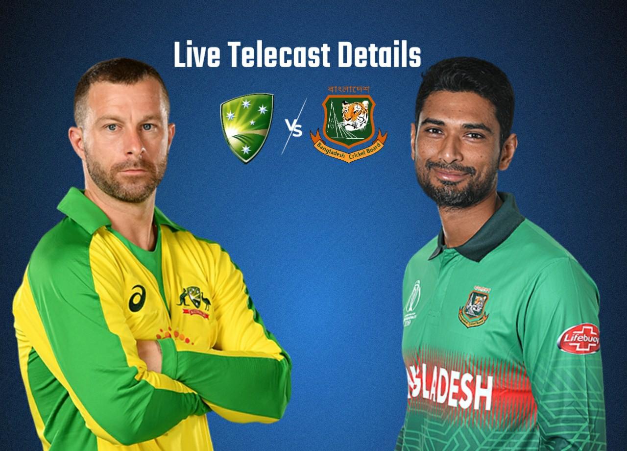 Bangladesh vs Australia 1st T20 Live Streaming on GTV