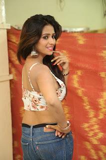 Deekshita Parvathi in a short crop top and Denim Jeans Spicy Pics Beautiful Actress Deekshita Parvathi January 2017 CelebxNext (45).JPG
