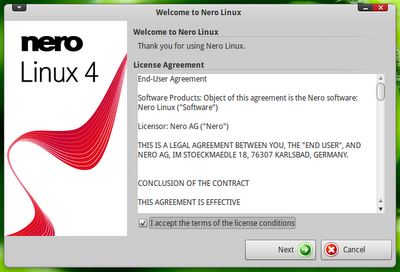 Nero for Windows, Linux