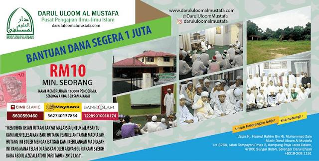 Kempen Infaq RM10 Madrasah Darul Uloom Al Mustafa,
