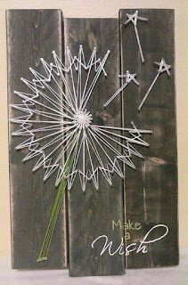 quadro con soffione in string art