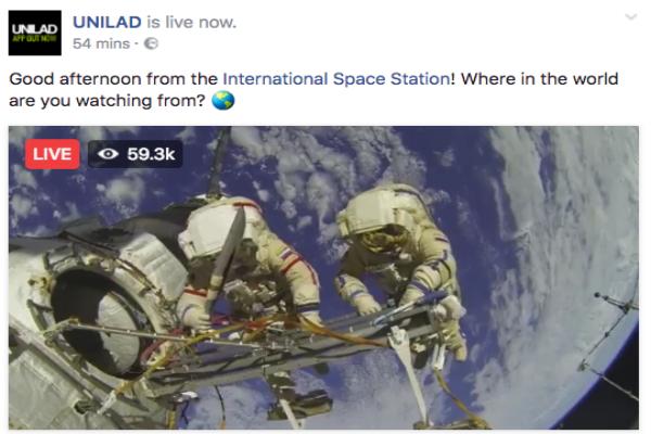 """هذه قصة """"البث الحي"""" من الفضاء على الفيسبوك الذي خدع الجميع!"""