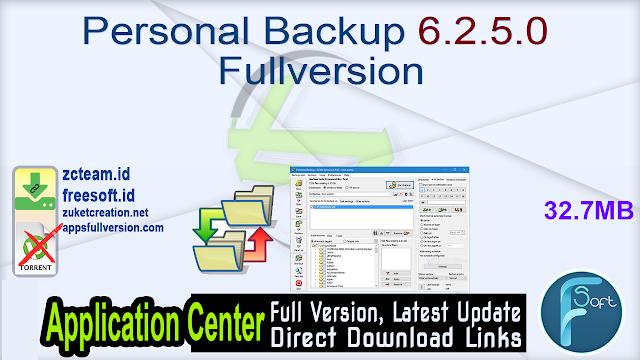 Personal Backup 6.2.5.0 Fullversion