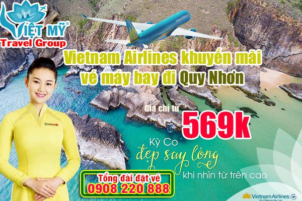 Vietnam Airlines khuyến mãi vé máy bay đi Quy Nhơn giá chỉ từ 569k