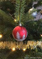 Julekule fra juletreet, julen 2019.