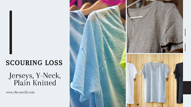 Scouring Loss for Jerseys Y-Neck Plain Knitted