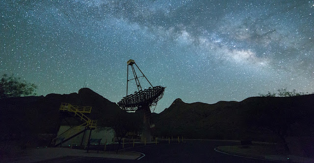 The Very Energetic Radiation Imaging Telescope Array System (VERITAS) at Fred Lawrence Whipple Observatory in southern Arizona.  Credit: John Quinn