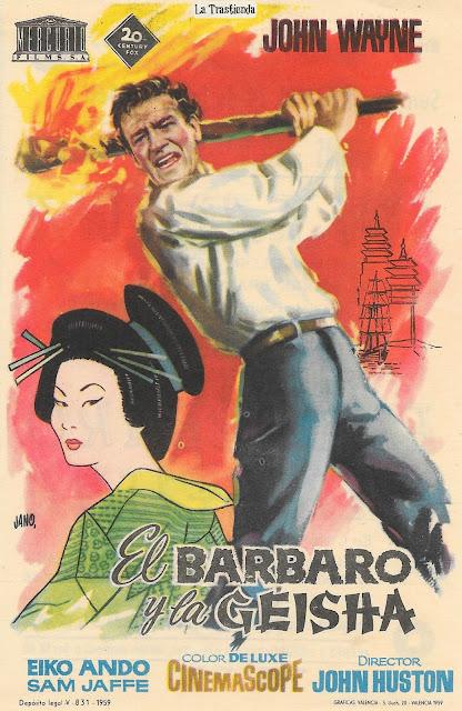El Bárbaro y la Geisha-Programa de Cine - John Wayne - Eiko Ando