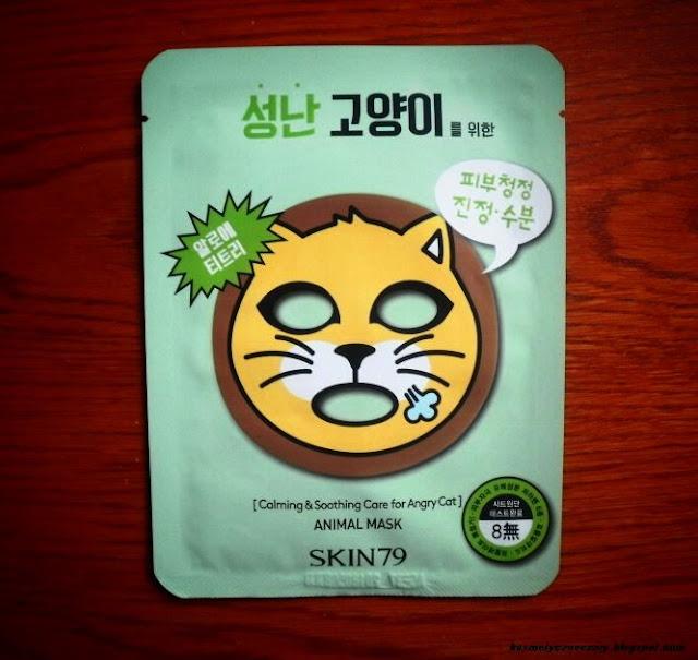 Zwierzakowa seria masek od SKIN79 - kotek, małpa, lew