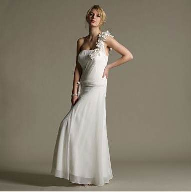 Noteped: Gorgeous Linen Wedding Dress