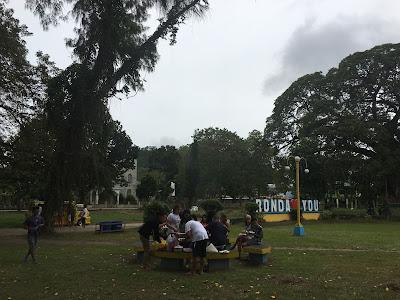 Picnicking at Ronda Plaza