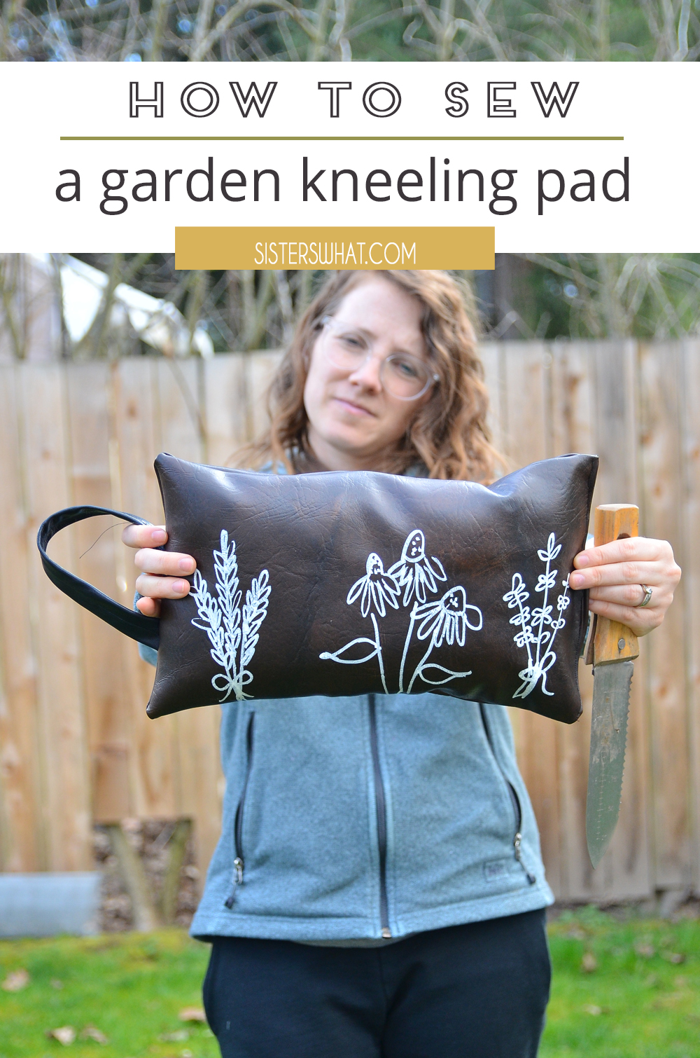 how to sew a gardeners kneeling pad