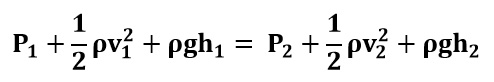 Ecuación de Bernoulli para el ejemplo 1