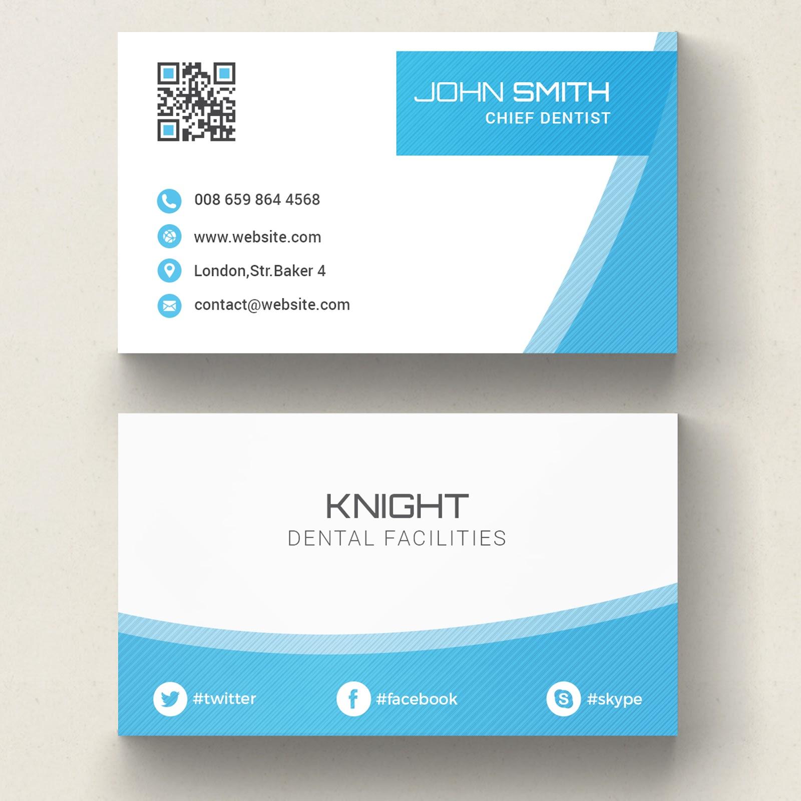تحميل ملف Psd Business Card جاهز للتعديل على الفوتوشوب Blue