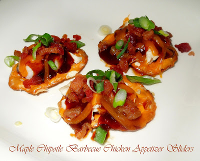 Maple Chipotle Barbecue Chicken Appetizer Sliders