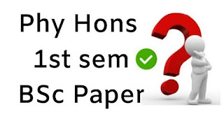 Mdu BSc Hons Physics 1st Sem Question Papers
