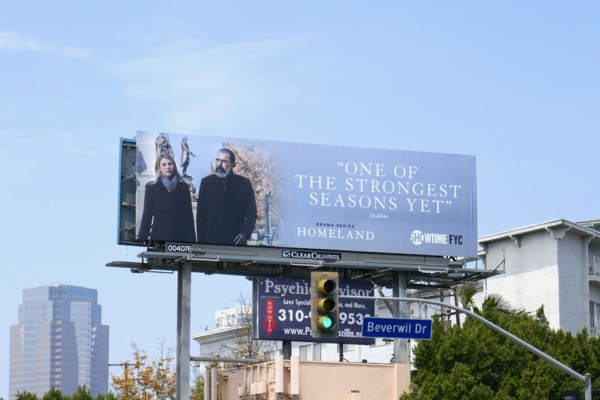 Homeland season 7 Emmy FYC billboard
