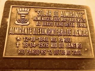 Placa em Frente ao Museu de Rio Pardo