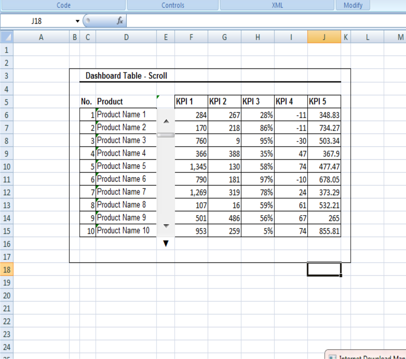 Dashboards In Microsoft Excel Amanah Fitri