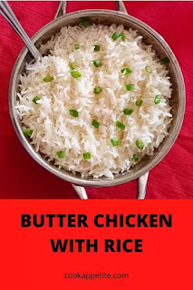 Indian butter chicken recipe with rice