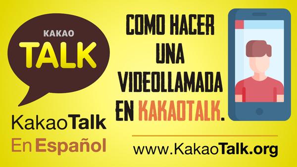 Como hacer una videollamada en Kakao Talk
