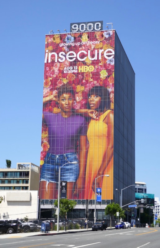 Giant Insecure season 3 billboard Sunset Strip