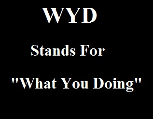WYD Stands For What You Doing