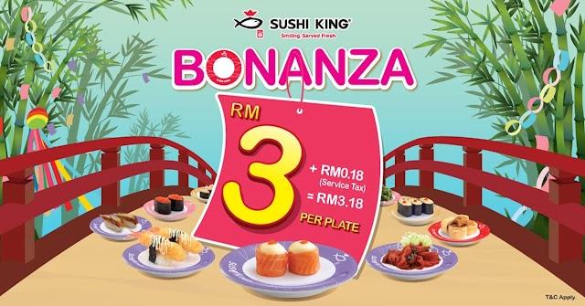 Bonanza Sushi King - Repeat Makan Sampai 2 Kali!