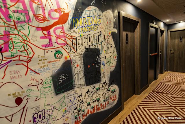NYX Bilbao Hotel, murales interiores - El Guisante Verde Project
