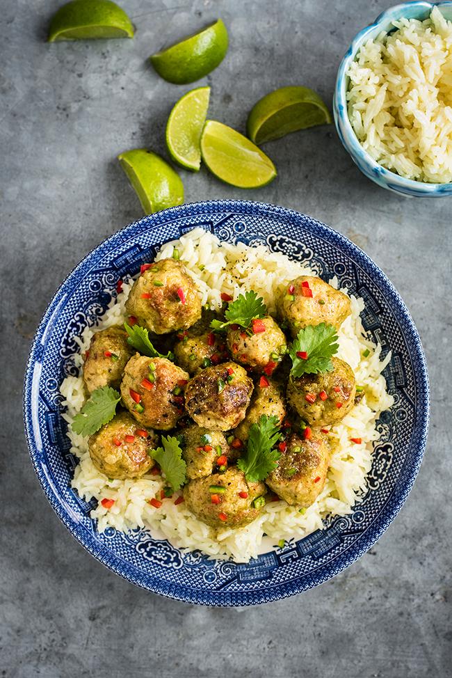 Thai Green Curry Chicken Meatballs