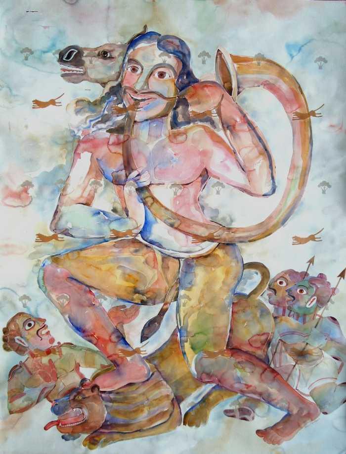 Образы зверей и людей. Anand Gadapa