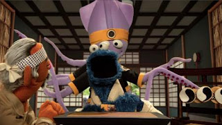 Cookie's Crumby Pictures The Biscotti Kid, Mr. MiCookie, Biscotti Karate, The Karate Squid, Sesame Street Episode 4405 Simon Says season 44