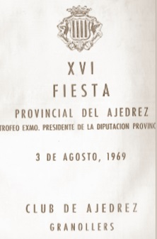 Portada del programa de la XVI Fiesta Provincial del Ajedrez