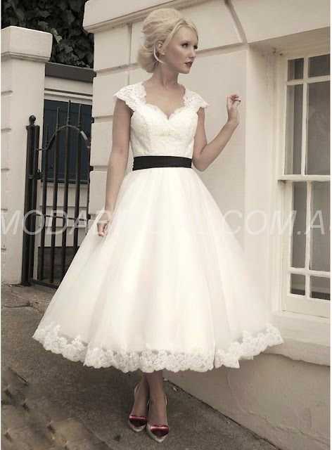A-Line Ankle-Length Graceful Sweetheart-Neckline Wedding Dress Cairns