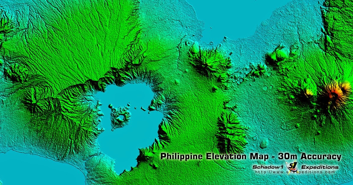 Water Elevation Map.Elevation Map Of The Philippines At 30 Meter Accuracy Has Been